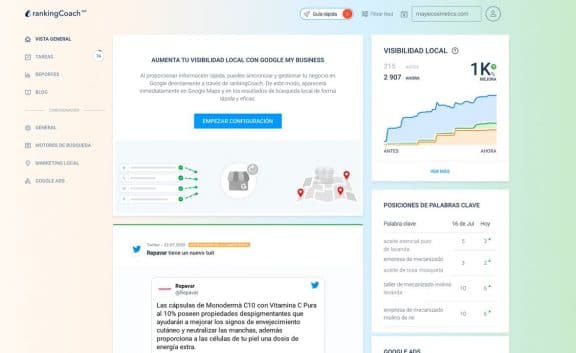 Interfaz de RankingCoach