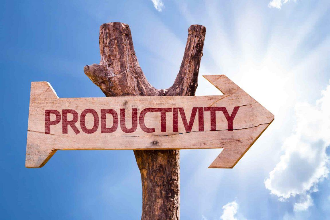 flecha con productividad