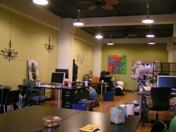Foto de una espacio de coworking moderno decorado de forma original