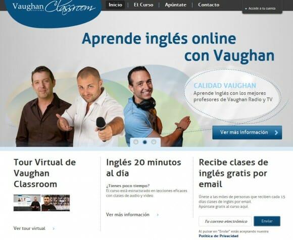 Captura de pantalla de Vaughan como representante de Negocio Empresa